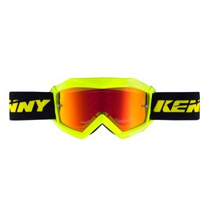 Masque cross KID TRACK + - JAUNE FLUO  Jaune Fluo