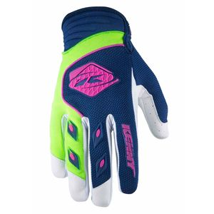Gants cross Kenny destockage TRACK - NAVY LIME - 2018