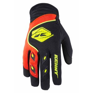 Gants cross Kenny destockage TRACK - NOIR ORANGE FLUO - 2018