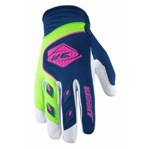 Gants cross TRACK YOUTH - NAVY LIME -  2018 Bleu/Vert