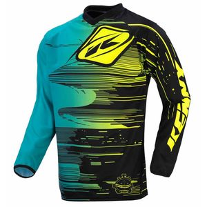 Maillot cross PERFORMANCE - AQUA / JAUNE- 2017 Bleu/Jaune