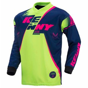 Maillot Cross Kenny Destockage Track - Marine / Lime / Rose Fluo - 2017