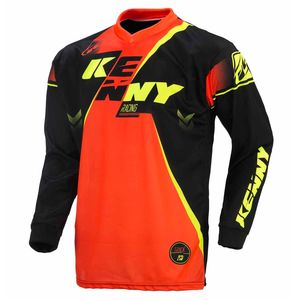 Maillot cross TRACK YOUTH - NOIR /  ORANGE FLUO - 2017 Noir/Orange