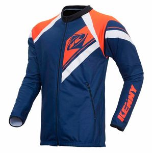 Veste enduro CASAQUE ENDURO - NAVY ORANGE FLUO -  2018 Bleu/Orange