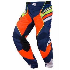 Pantalon cross TITANIUM - MARINE / ORANGE / LIME - 2017 Bleu/Orange