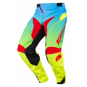Pantalon cross PERFORMANCE - LEMON - 2017 Bleu/Jaune