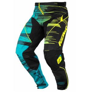 Pantalon cross PERFORMANCE - AQUA / JAUNE - 2017 Bleu/Jaune