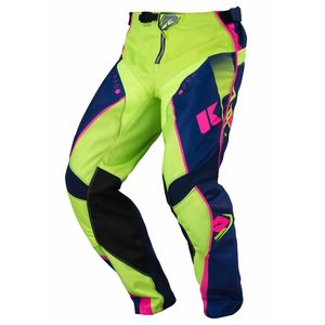 Pantalon cross TRACK - MARINE / LIME / ROSE FLUO - 2017 Bleu/Vert