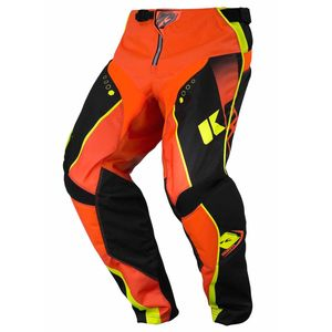 Pantalon cross TRACK YOUTH - NOIR / ORANGE FLUO -  Noir/Orange