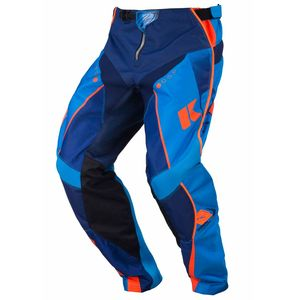Pantalon cross TRACK YOUTH - MARINE /  CYAN / ORANGE FLUO - 2017 Bleu/Orange