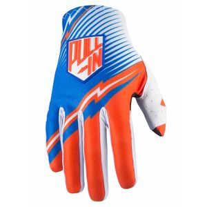 Gants Cross Pull-in Destockage Challenger - Bleu / Orange - 2017