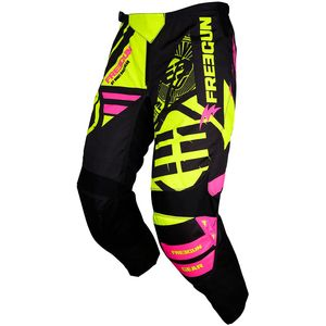 Pantalon cross DEVO NERVE NEON YELLOW PINK ENFANT  Jaune