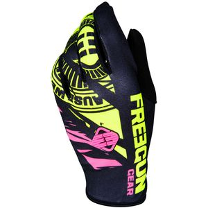 Gants cross DEVO NERVE NEON YELLOW PINK ENFANT  Jaune