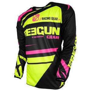 Maillot cross DEVO NERVE YELLOW PINK ENFANT  Jaune