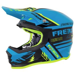 Casque cross XP-4 NERVE BLUE NEON YELLOW GLOSS 2018 Bleu/Jaune