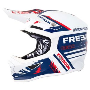 Casque cross XP-4 NERVE BLUE RED 2018 Bleu/Rouge