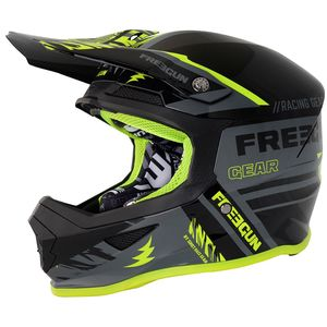 Casque cross XP-4 NERVE GREY NEON YELLOW 2018 Gris/Jaune