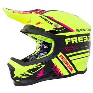 Casque cross XP-4 NERVE NEON YELLOW PINK 2018 Jaune