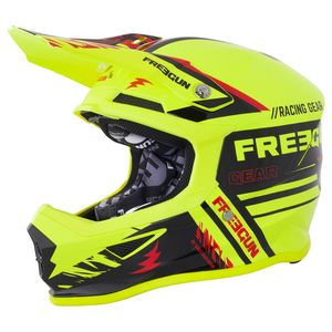 Casque cross XP-4 NERVE NEON YELLOW RED 2018 Jaune