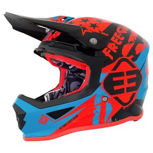 Casque cross XP-4 USA BLUE NEON ORANGE 2018 Bleu