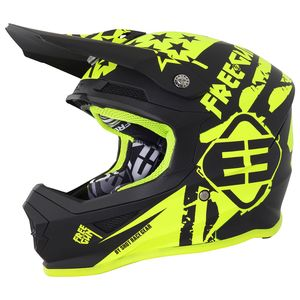 Casque cross XP-4 USA NEON YELLOW MAT 2018 Jaune