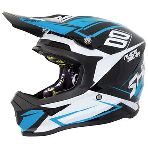 Casque cross FURIOUS ALERT BLACK BLUE GLOSS 2018 Noir/Bleu
