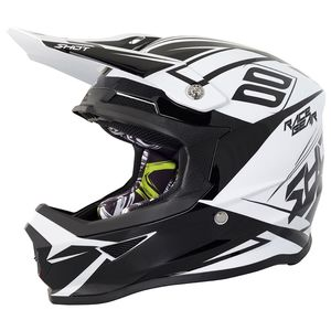 Casque cross FURIOUS ALERT - BLACK WHITE GLOSS 2018 Noir/Blanc