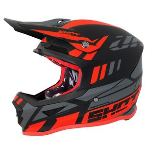 Casque cross FURIOUS RIOT - NEON ORANGE GREY MATT 2018 Orange