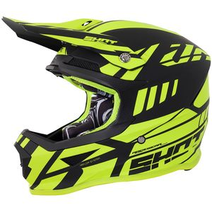 Casque cross FURIOUS RIOT - NEON YELLOW MATT 2018 Jaune