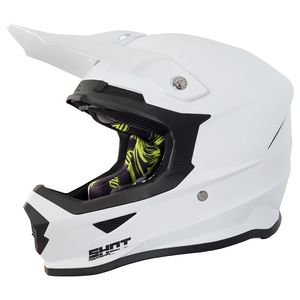 Casque cross FURIOUS UNI - WHITE 2021 Blanc