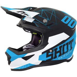 Casque cross FURIOUS SPECTRE - BLACK BLUE MATT 2018 Noir/Bleu