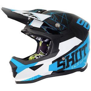 Casque cross FURIOUS SPECTRE BLACK BLUE GLOSSY ENFANT  Noir/Bleu