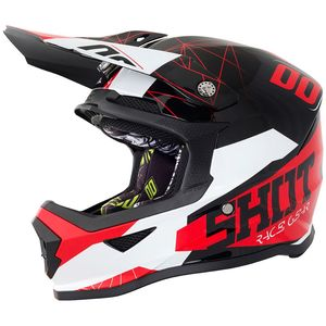 Casque cross FURIOUS SPECTRE BLACK RED GLOSSY ENFANT  Noir/Rouge