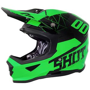 Casque cross FURIOUS SPECTRE - NEON GREEN GLOSS 2018 Vert