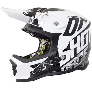 Casque cross FURIOUS VENOM BLACK WHITE GLOSSY ENFANT  Noir/Blanc