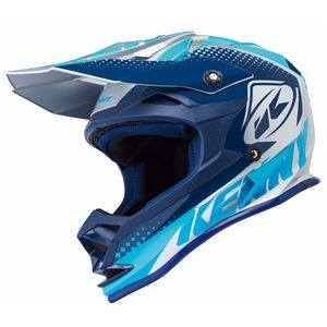 Casque Cross Kenny Performance - Argent Bleu - 2018
