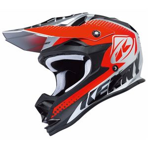 Casque Cross Kenny Performance - Argent Rouge - 2018