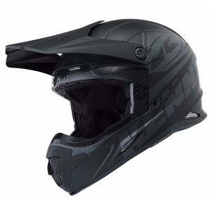 Casque Cross Kenny Track - Noir Mat - 2018