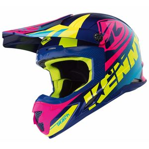 Casque cross TRACK - BLEU ROSE -  2018 Bleu/Rose
