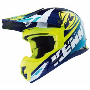 Casque Cross Kenny Track - Bleu Jaune Fluo - 2018