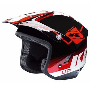 Casque trial TRIAL UP - ROUGE NOIR BLANC 2019 Rouge/Noir/Blanc