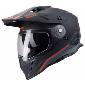 Casque Cross Kenny Explorer - Noir Orange Fluo Mat 2019