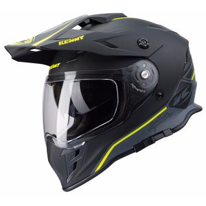 Casque Cross Kenny Explorer - Noir Jaune Fluo Mat 2019