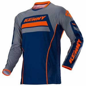 Maillot Cross Kenny Titanium - Bleu Orange - 2018