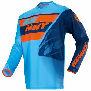 Maillot Cross Kenny Kid Track - Bleu Orange - 2018