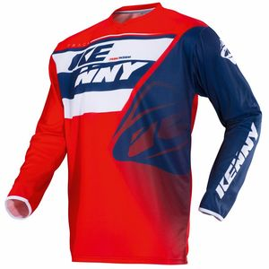 Maillot Cross Kenny Track - Bleu Blanc Rouge - 2018