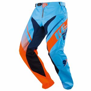 Pantalon cross KID TRACK - BLEU ORANGE -   Bleu/Orange
