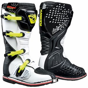 Bottes Cross Kenny Track - Noir Blanc Jaune Fluo 2019