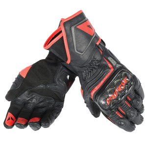 Gants CARBON D1 LONG  Black/Black/Red