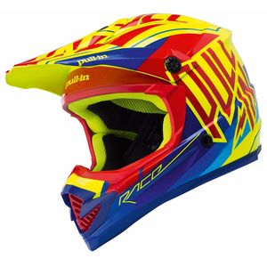 Casque Cross Pull-in Moto Kid - Rouge - 2018
